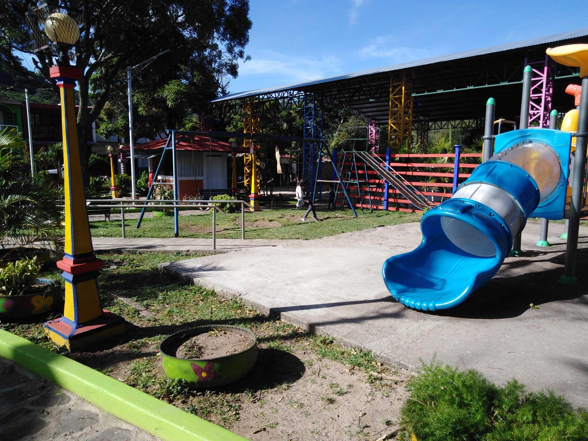 El parque municipal de San Nicolás.