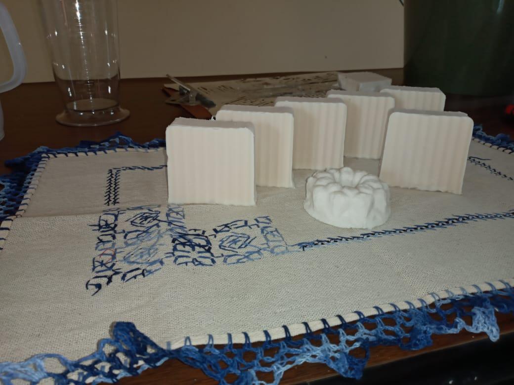 Este es el producto final, una barra de jabón.